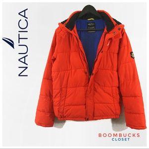 Nautica Boys Hooded Puffer Jacket XL  (18/20)
